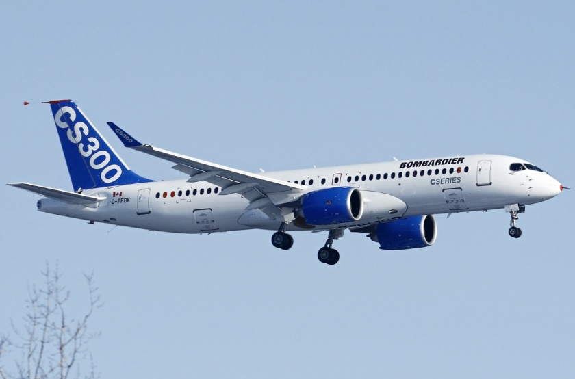 bombardier_bd-500-1a11_cseries_cs300_on_finals_after_its_first_flight